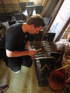 Playing the gamelan @ Puri Agung Karangasem (Water Palace)
